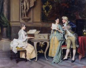 Artist Adriano Cecchi 1850-1936.
