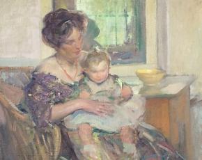Artist Richard E. Miller 1875-1943.