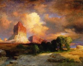 Artist Thomas Moran 1837-1926.