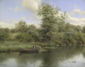 Artist Emilio Sanchez-Perrier 1855-1907.