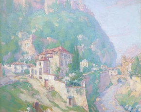 Artist Carl Brandien 1886-1965.