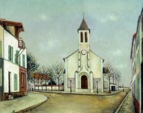 Artist Maurice Utrillo 1883-1955.