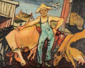 Artist Gregorio Prestopino 1907-1984.