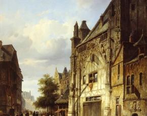 Artist Cornelis Springer 1817-1891.