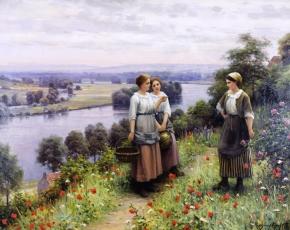 Artist Daniel Ridgway Knight 1839-1924.
