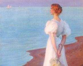 Artist Charles Courtney Curran 1861-1942.