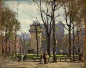 Artist Paul Cornoyer 1864-1923.
