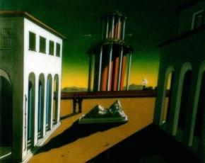 Artist Giorgio De Chirico 1888-1978.