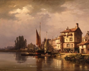Artist Charles Kuwasseg 1838-1904.