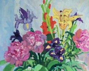 Artist Nell Blaine 1922-1996.