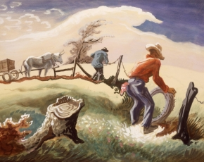 Artist Thomas Hart Benton 1889-1975.