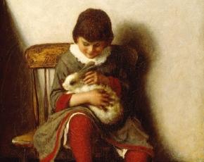 Artist Eastman Johnson 1824-1906.