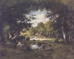 Artist Emile Diaz De La Peña 1835-1860.
