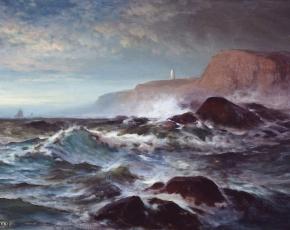 Artist Edward Moran 1829-1901.