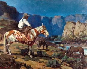 Artist Olaf Wieghorst 1899-1988.