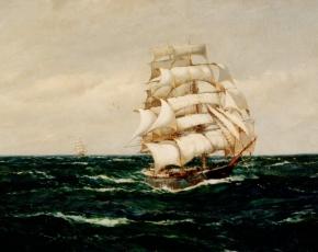 Artist Montague Dawson 1890-1973.