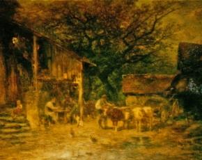 Artist Anton Burger 1824-1905.