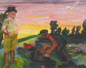 Artist Phillip Evergood 1901-1973.