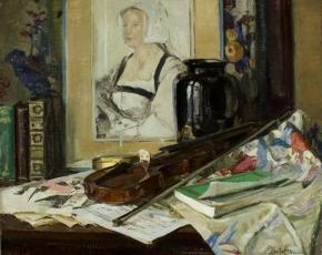 Artist George Oberteuffer 1878-1940.