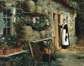 Artist Henry Bacon 1839-1921.