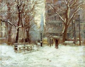 Artist Theodore Robinson 1852-1896.