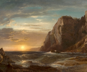 William Hart (1823–1894), Sunset on Grand Manan Island, New Brunswick, 1861, oil on canvas, 32 x 48 in. (detail)