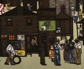 Robert Gwathmey (1903–1988), The Gathering, c. 1959, oil on canvas, 36 x 48 in. (detail)