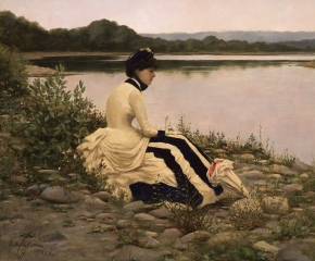 William Anderson Coffin (1855–1925), Reflections, 1885, oil on canvas, 20 1/4 x 24 1/4 in. (detail)