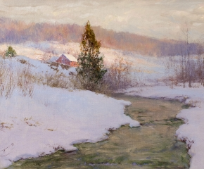 Walter Launt Palmer (1854-1932), An Upland Stream, 1904, oil on canvas, 16 x 24 in.