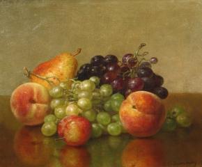 Robert Spear Dunning (1829–1905), An Arrangement of Fruit, 1901, oil on canvas, 11 x 14 in. (detail)
