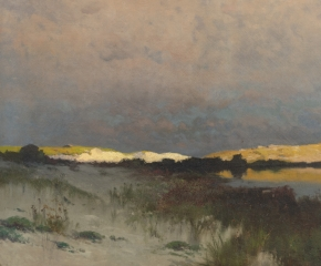 Franklin DeHaven (1856–1934). The Shore at Dawn, 1889. Oil on canvas. 28 x 40 1/4 in. (detail)