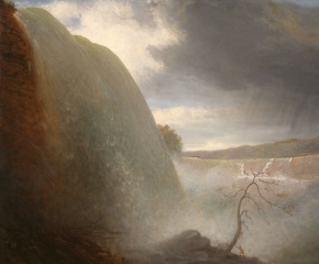 Rembrandt Peale (1778–1860), Falls of Niagara, Viewed from the American Side, 1831, oil on canvas, 18 1/4 x 24 1/8 in. (detail)