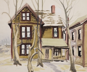 Charles Ephraim Burchfield (1893–1967), Frosted Windows, 1917, watercolor and pencil on paper, 26 x 20 in. (detail)