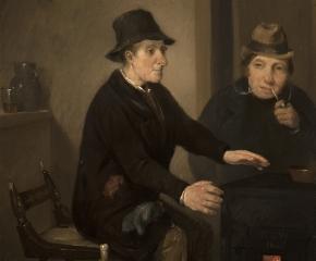 Richard Caton Woodville (1825–1855), Scene in a Bar-Room, 1845, oil on panel, 8 1/2 x 6 3/4 in. (detail)