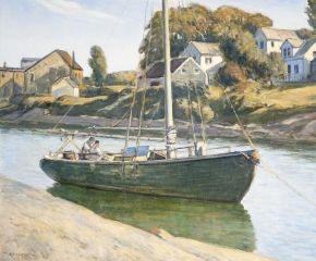 Clarence K. Chatterton (1880–1973), Inlet at Ogunquit, Maine, c. 1925, oil on canvas, 28 x 36 in. (detail)