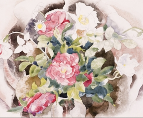Charles Demuth (1883–1935), Roses, 1926, watercolor and pencil on paper, 11 7/8 x 17 7/8 in. (detail)