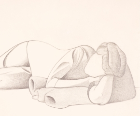 George C. Ault (1891–1948), Reclining Figure, 1923, pencil on paper, 8 7/8  x 11 7/8 in. (detail)