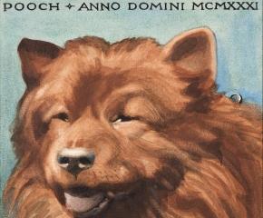 Grant Wood (1891–1942), Pooch, 1931, watercolor on paper, 8 3/4 x 7 3/4 in. (detail)