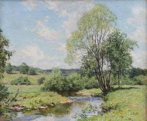 Willard Leroy Metcalf (1858–1925), Green Idleness, 1911, oil on canvas, 26 1/4 x 29 1/4 in.