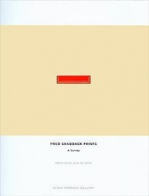 Fred Sandback Prints: A Survey