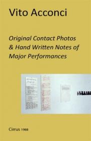 Original Contact Photos & Hand Written Notes of Major Performances