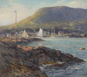 Harbor at Camden, Maine c.1905
