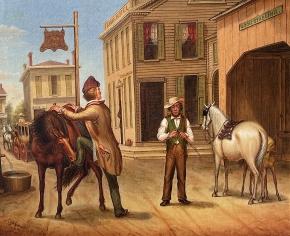 Horse Trade Scene, Cornish Maine 1853