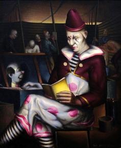 Clown Reading 1933