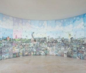 Jesse Krimes quilt installation