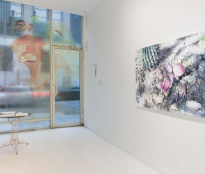 Installation view of Eric LoPresti artwork