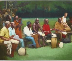 Sylvia Maier painting