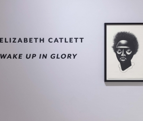 Elizabeth Catlett installation wall text