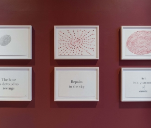 Installation view of Louise Bourgeois art