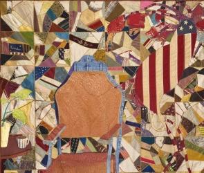 Detail of Jesse Krimes quilt